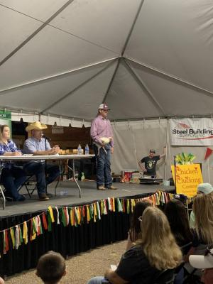 Clayton Hinton placing 10th at the 2019 Shelby County Poultry Festival