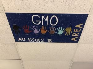 Any team that advances in a contest gets to paint a ceiling tile in Mrs. Fallin's classroom- 2018 Ag Issues Forum LDE team Area Tile