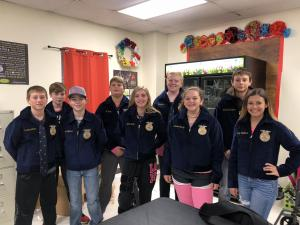 First group of 8th Graders in the FFA at Shelbyville ISD getting their FFA Jackets