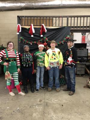 First Annual FFA tacky Christmas sweater party and contest
