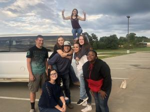 2018-2019 Shelbyville FFA Officer Team at Leadership Camp at Central Heights in Nacogdoches.