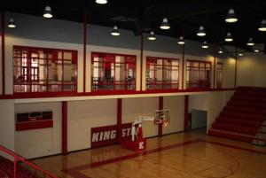 Multi-Purpose Gym - Bleacher View of Lobby
