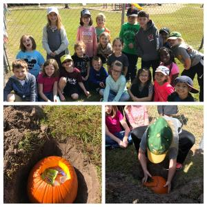 Trash Pumpkin Experiment... what will it look like when we dig it up in April?