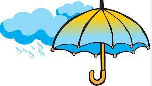 Umbrella with rain clouds
