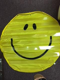 smiley face hanging card