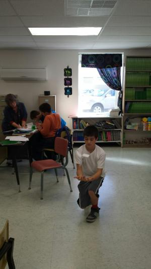 Students explored Bernoulli's Principal with paper helicopters.