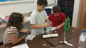 Students explored Pascal's principle with Density Divers.