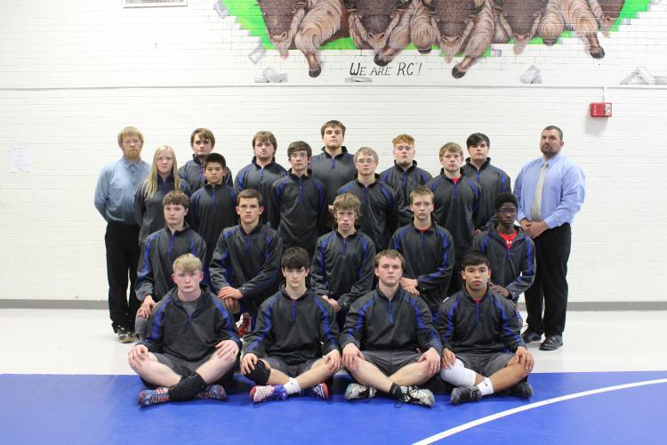 2018 wrestling team photo
