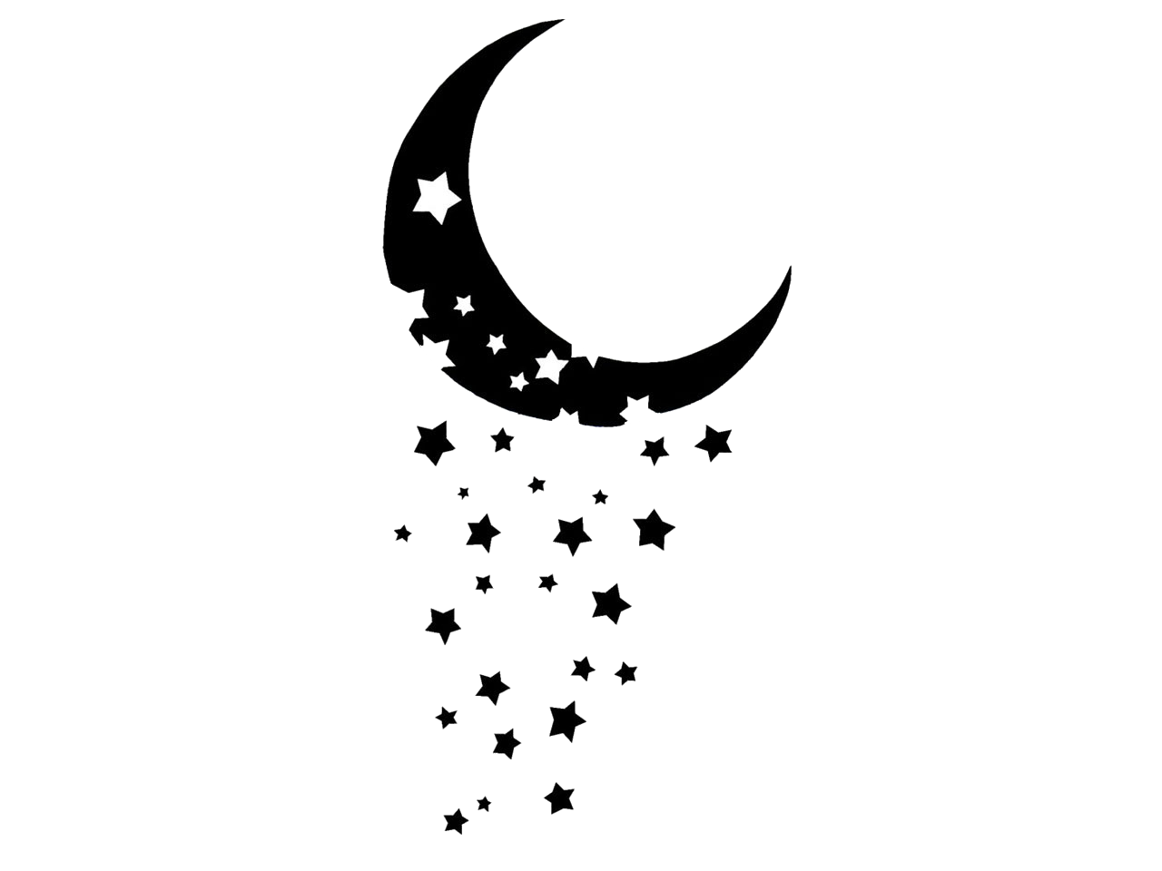 Moon with Stars