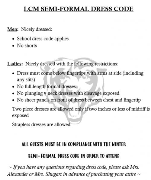 Winter Formal Dress Code
