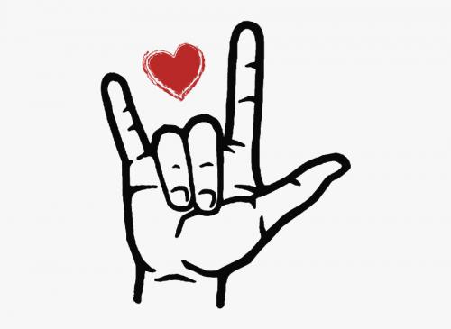 ASL I love you handshape