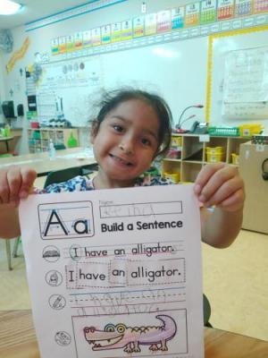 First grade building sentences.