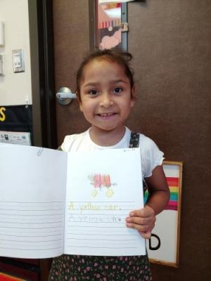 Reading and writing with first grade.