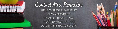 Contact Mrs. Reynolds