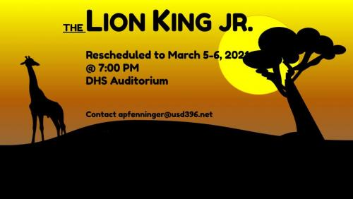 Rescheduled Lion King Poster