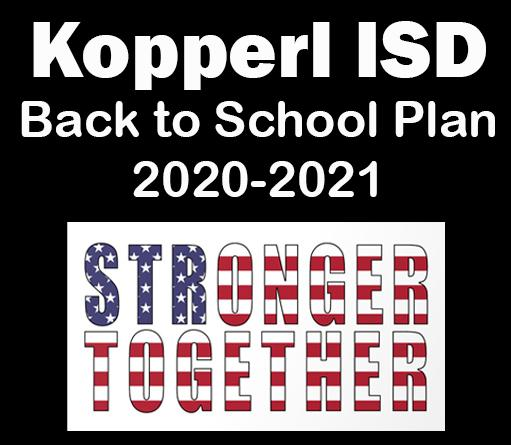 Kopperl ISD Back to School Plan 2020-2021