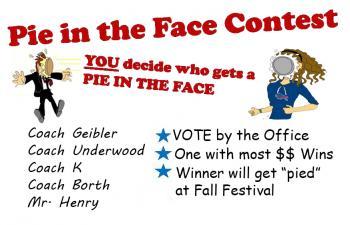 Pie in face