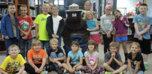 Second graders enjoyed their time with Smokey the Bear