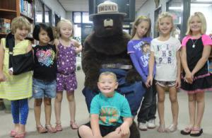 First grade with Smokey the Bear