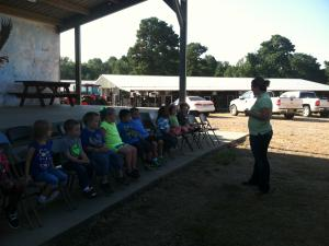 We learned about dairy cows at the mobile dairy.