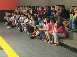 Students toured 4th Grade to see what Elementary will be like next year!  They are really listening to Mr. Williams in this picture.