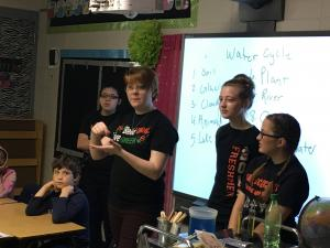 Earth Day Lesson by the Jr. High Science Club