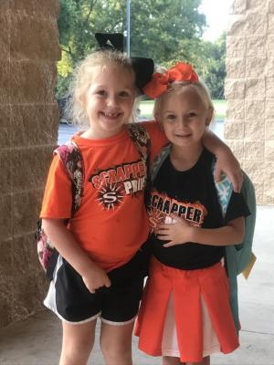 Mrs. Jones and Mrs. Topor's daughters love being Scrappers!