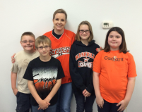 2015 4th Grade Battle of the Books Team with Mrs. Pope after the competition in Gillham