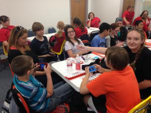 2015 Battle of the Books 5th/6th grade teams prepare for another round.