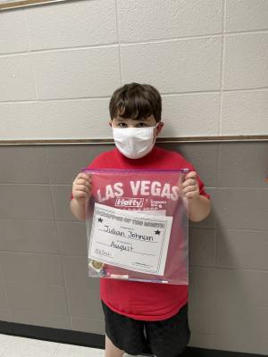 August Student of the Month-WIN: Julian Johnson
