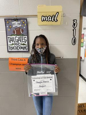 August Student of the Month-3rd Period: Ma'Shaylia Morris