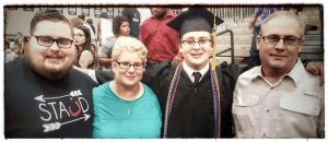 My family at my youngest graduation.