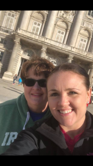 My daughter Angie and I in Ireland.