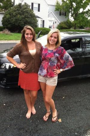 My daughters: Jordan on the right and Jessica on the left