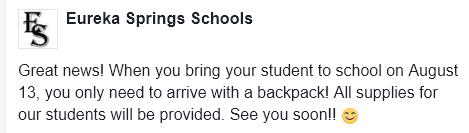 School Supplies 2018-2019