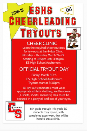Cheerleading Tryouts 2018 - 2019