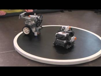 Lego Robots in Sumo Match