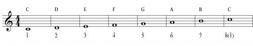 C Major Scale with Carats