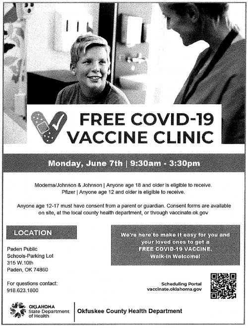covid clinic flyer