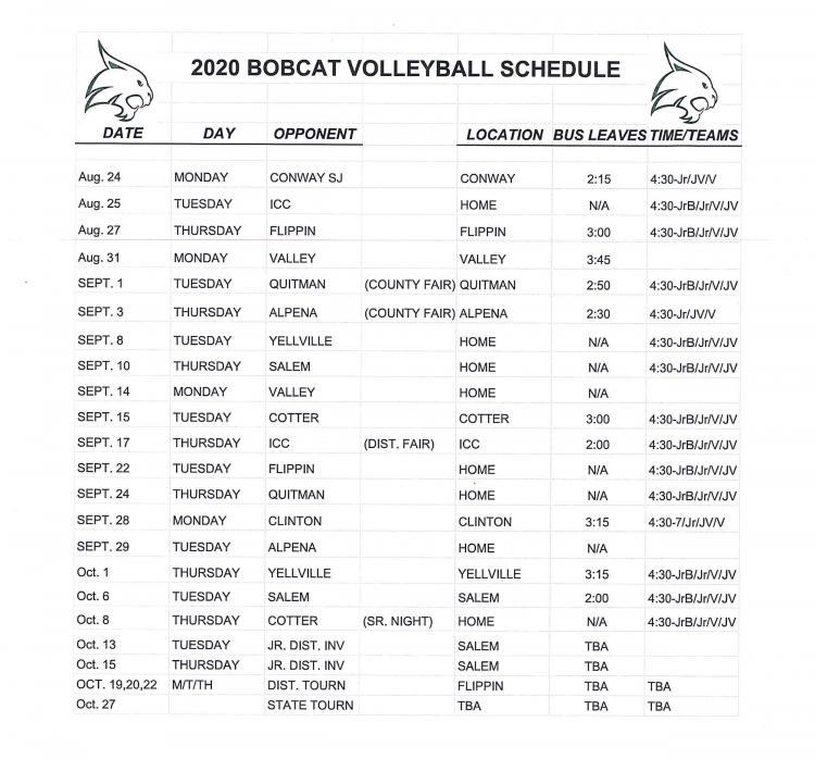 vb schedule