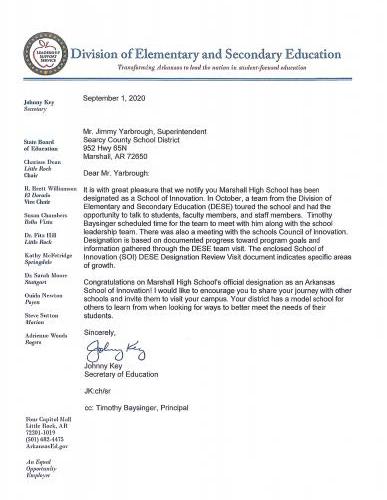 Marshall High School School Of Innovation Approval