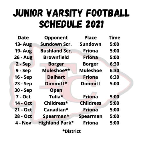 JV Football 2021