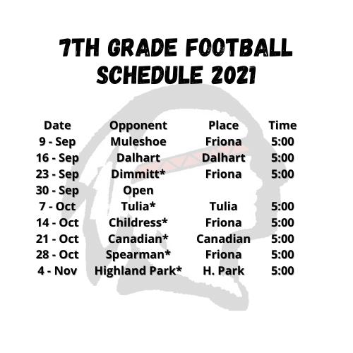 7th Grade Football 2021