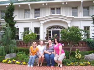 Housing students relax after their tour of the OKC Decorator's Showhome.