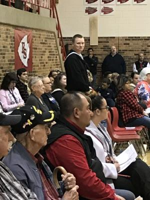 Veterans at the program