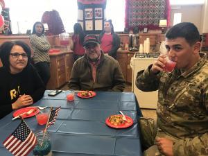 Veterans at the reception