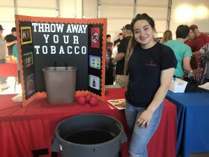 Vanessa at the FCCLA booth for NNO.