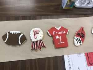 Homecoming Cookie Fundraiser - Finished product ready for packaging