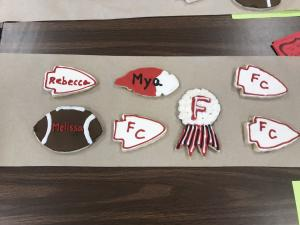 Homecoming Cookie Fundraiser - More finished cookies