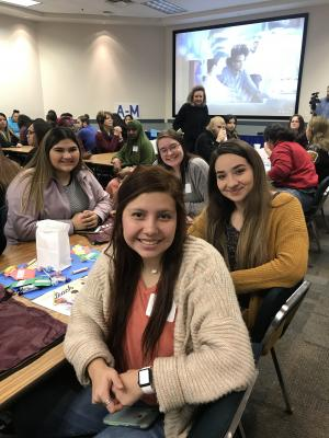 FCCLA members and Practicum of Ed and Training students attend teachers workshop